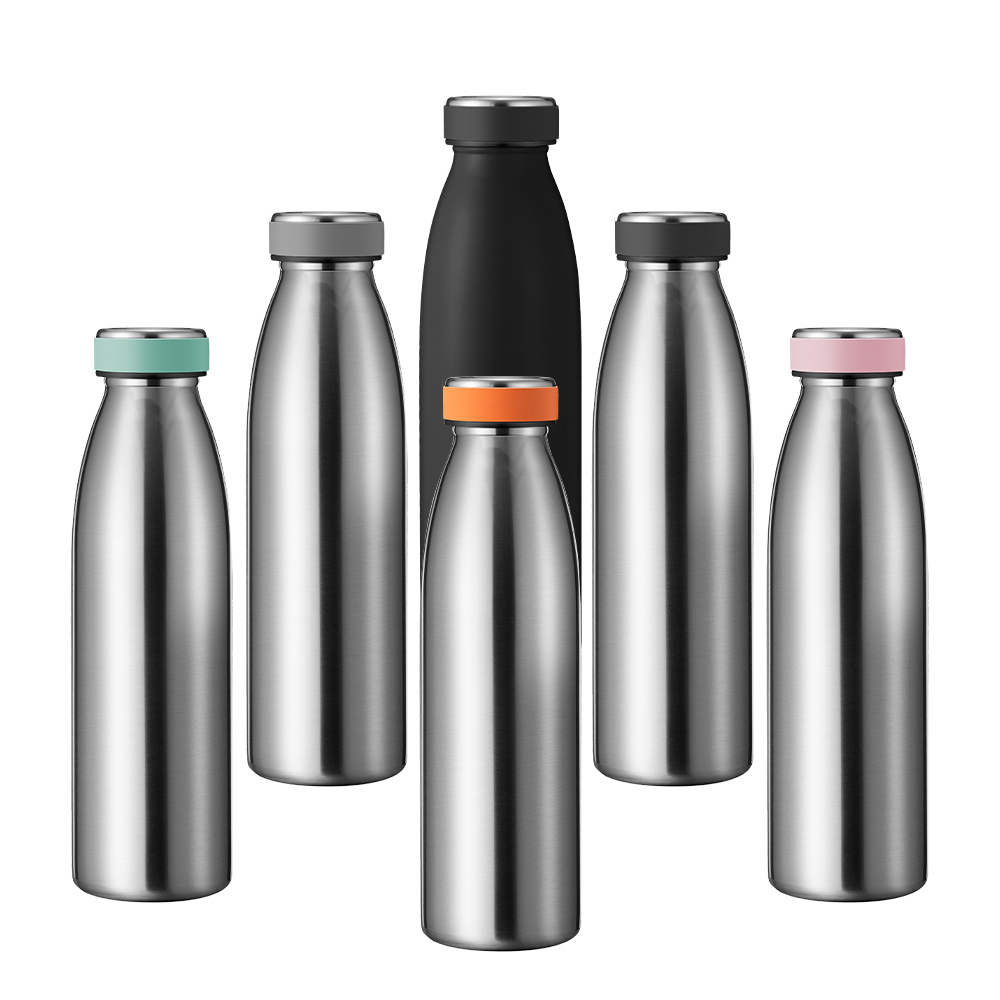 Hot Sales Bpa free luxury drinks vacuum insulated flask reusable sports double wall stainless steel milk water bottle, Customized color