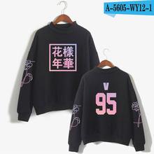 Женская толстовка с капюшоном Kpop love Yourself, модная толстовка унисекс с высоким воротником, черно-белая одежда(China)
