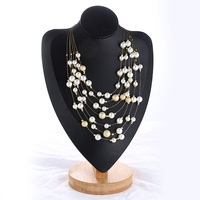 new Fashion multilayer chain collar Choker Necklace Pendants Imitation pearl Maxi statement Necklace Women Jewelry