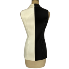 One-Stop Service Stylish Plain Black and White Women's Vest Sleeveless Suit