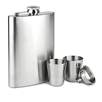 Promotional Custom Design Metal Body Material Stainless Steel Hip Flask