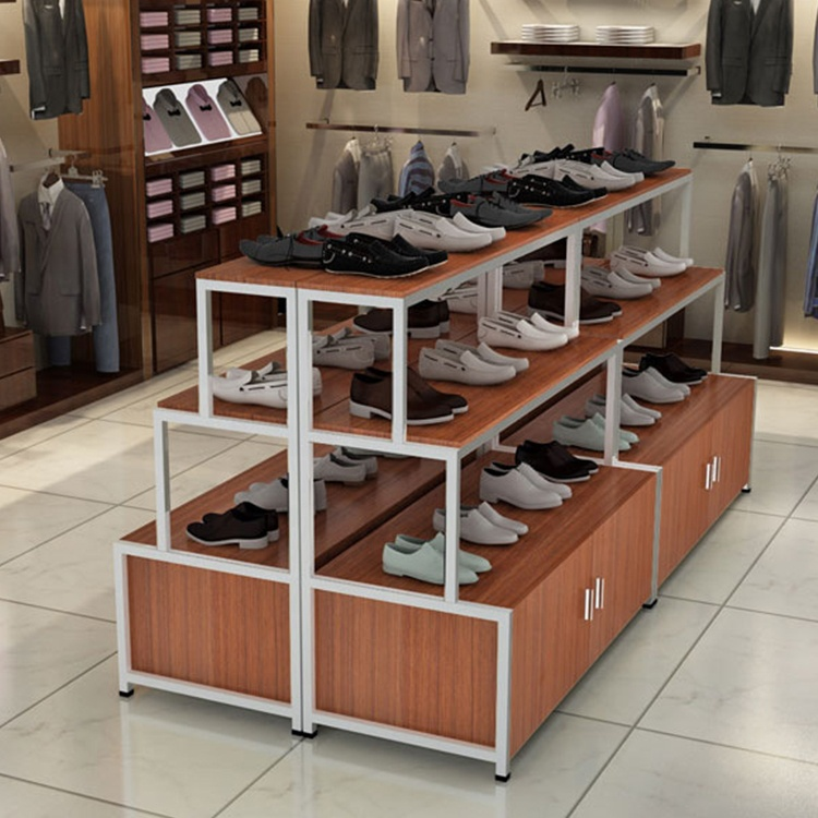 New design modern shoe shop free standing shoes display rack for <strong>retail</strong>