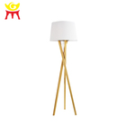 Modern Design Homeware LED Floor Lamp Wooden Tripod