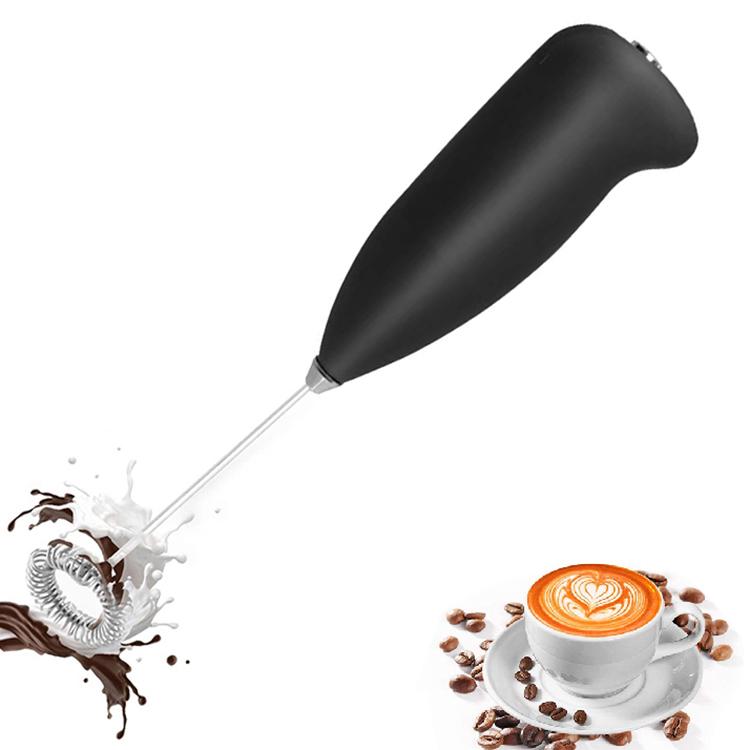 Amazon Top seller 2021 New Design Kitchen Gadgets Milk Frother Handheld Foam Maker Lattes Electric Mixer, Black