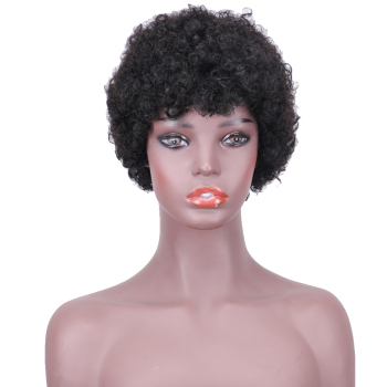 Hot Sale Cheap Black Natural Hair Short Afro Kinky Curly Human Hair Wigs For Africa America Women