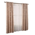 Yongshun double layer jacquard blackout flower style hotel turkish antique window curtains