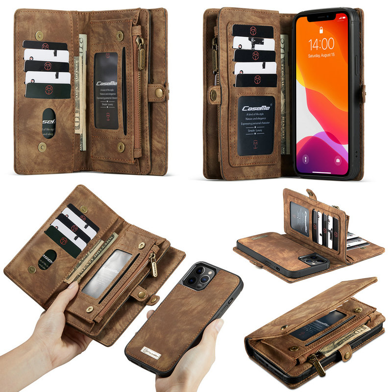 CaseMe Luxury Cellphone For iPhone 6s 7 8 X Xr 11 12 Se 2020 Case Leather Wallet Phone Case <strong>Accessories</strong> For iPhone 12 Case Cards