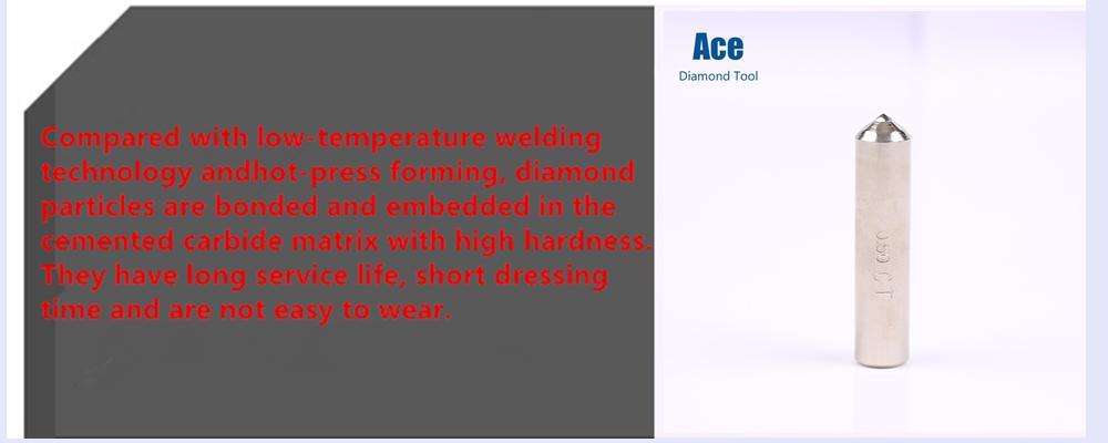 Único Ponto de Retificação e acabamento Natural Diamante Ferramenta Abrasiva Rebolo Cômoda