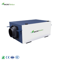 Single duct uni-directional ventilator with air purification air handling unit