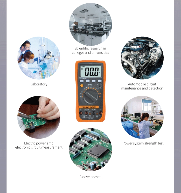 VC88 4000 digits Digital ac dc auto ranging multimeter duty cycle test