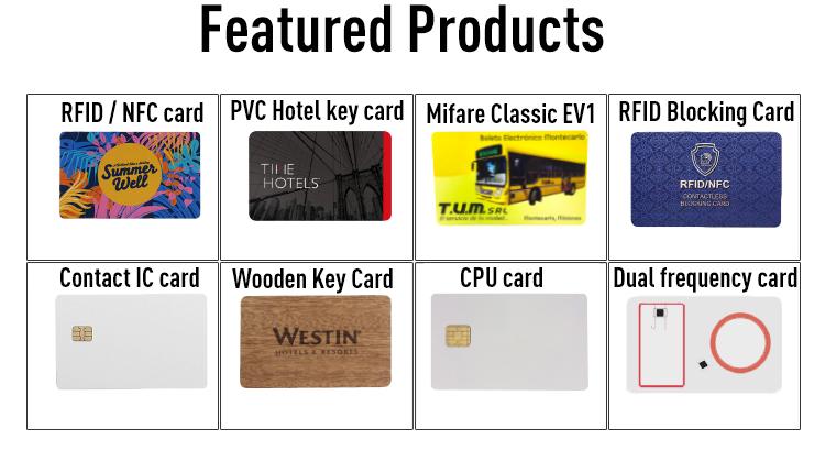 PVC RFID 호텔 키 Card SafLok MF Classic 1 K Card