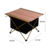HOMFUL Camping Wood Table Outdoor Folding Picnic Table