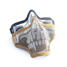 Tactical Military Half Face Metal Mesh Maske Airsoft Paintball Resistant Protective Maske für jagd CS spiele
