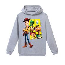 Toy Story Cartoon Printing Baby Boy Clothes TShirt Long Sleeve Top Kid Hoodies Sweatshirt Children's Girl Vampirina Black Shirts(China)