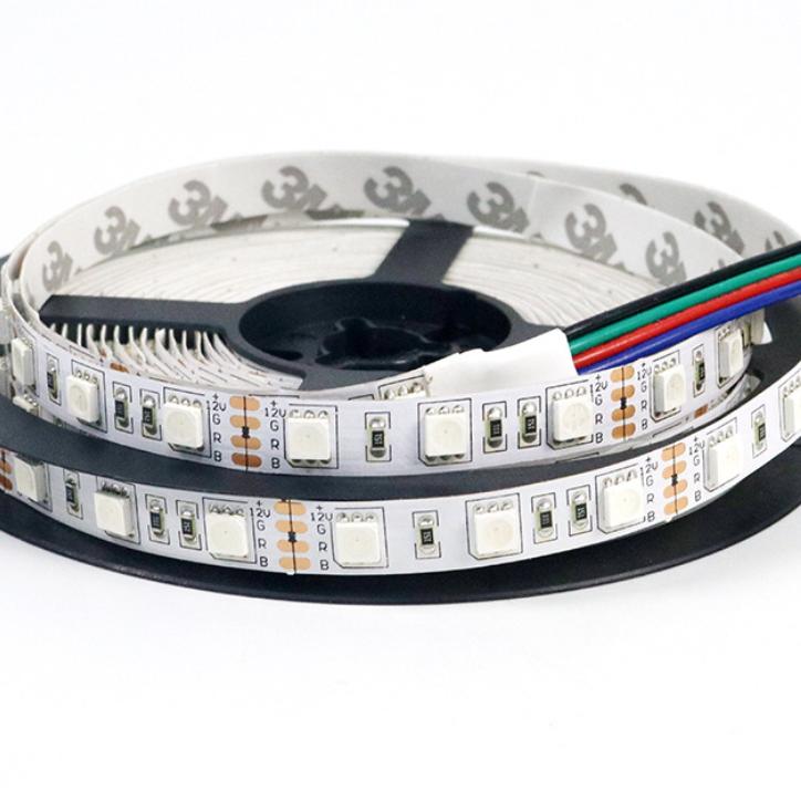 SMD5050  RGB 72leds/m  DC12  10mm PCB Flexible LED Strip