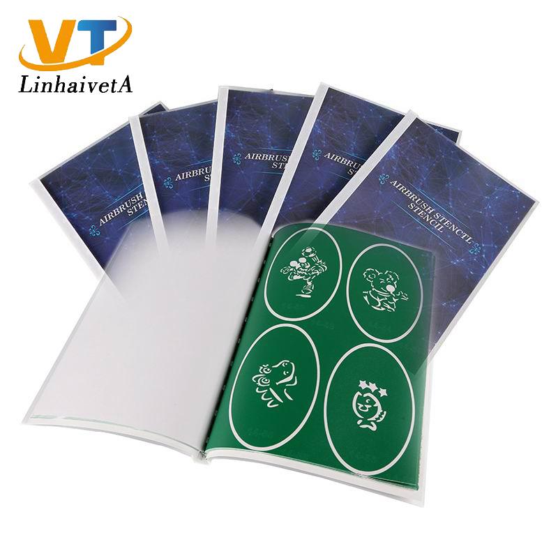 Book 14 air brush temporary tattoos glitter reusable henna airbrush stencils