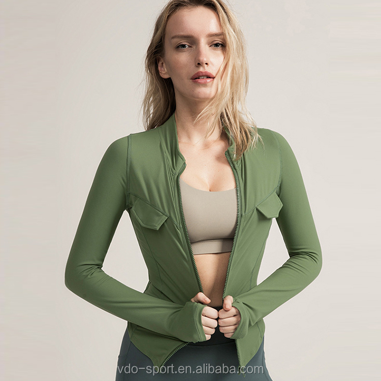 Hot Selling Fitness Clothing Autumn and Winter Long Sleeve Quicky Dry Slim Yoga Running Jacket
