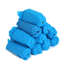 Non slip Blue Fabric Reusable Polypropylene Protect Your Home Floors One Size Fits Most Non Woven Disposable Shoe Cover