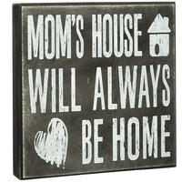Fashionable wooden mom sign quote saying box christmas gift boxes with lids