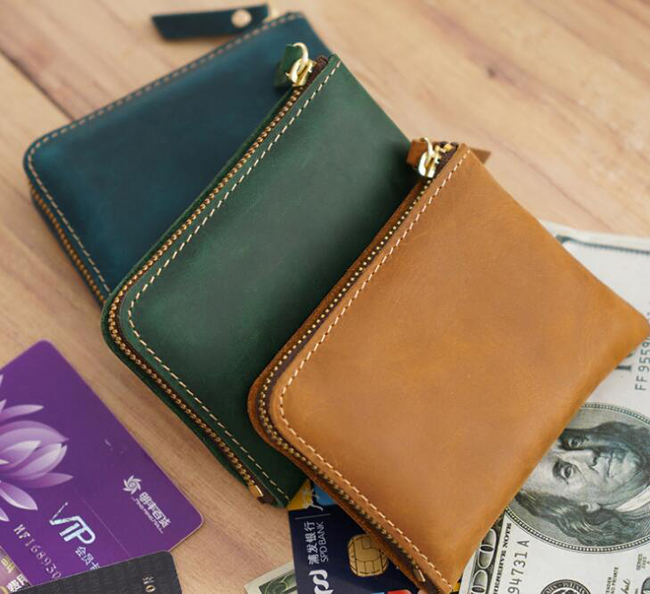 Premium vintage card coin purse pocket wallet slim