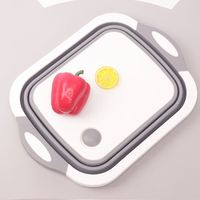 Chopping Storage Basin Silicone foldable cutting board folding plastic basket