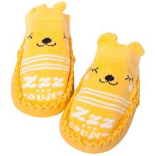 Модные носки; Нескользящие носки для маленьких мальчиков и девочек; Тапочки для От 0 до 4 лет; Тапочки; Детская обувь(China)