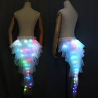 Fashion Dance LED Tutu Skirt Up Neon Fancy Rainbow Mini Tutu Fancy Costume Adult light Skirt TFS Corset Tutu Skirt
