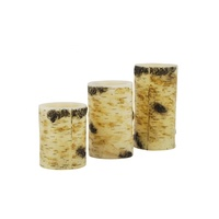 Matti's hot selling battery operated Flameless LED Birch Bark Candles set of 3 made in china