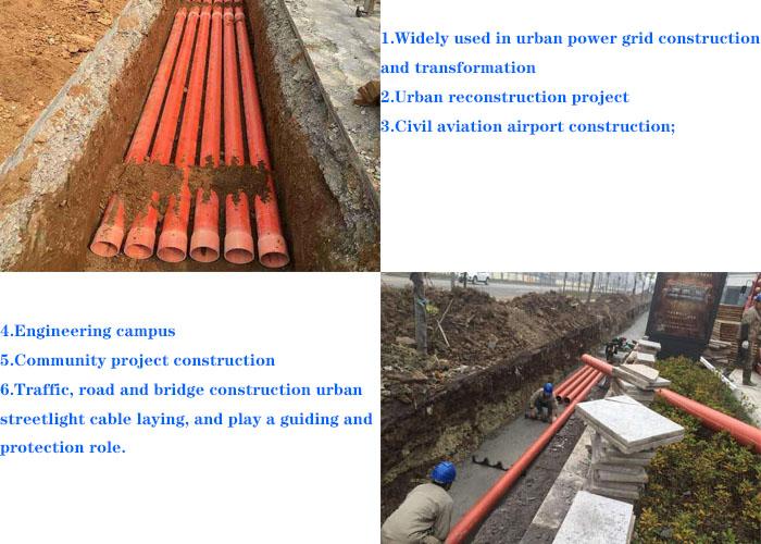 CPVC tubo naranja tubo de PVC para Cable eléctrico de conducto