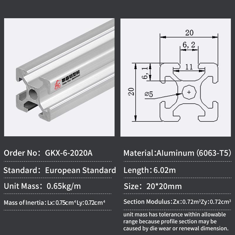 CHINA factory 2020 aluminum frame material t track v slot extrusion aluminium profile workbench