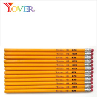 Hot Sale Eraser on Top #2 Standard Yellow Pencil