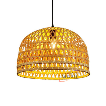 decorative rattan light pendant bamboo hanging lamp
