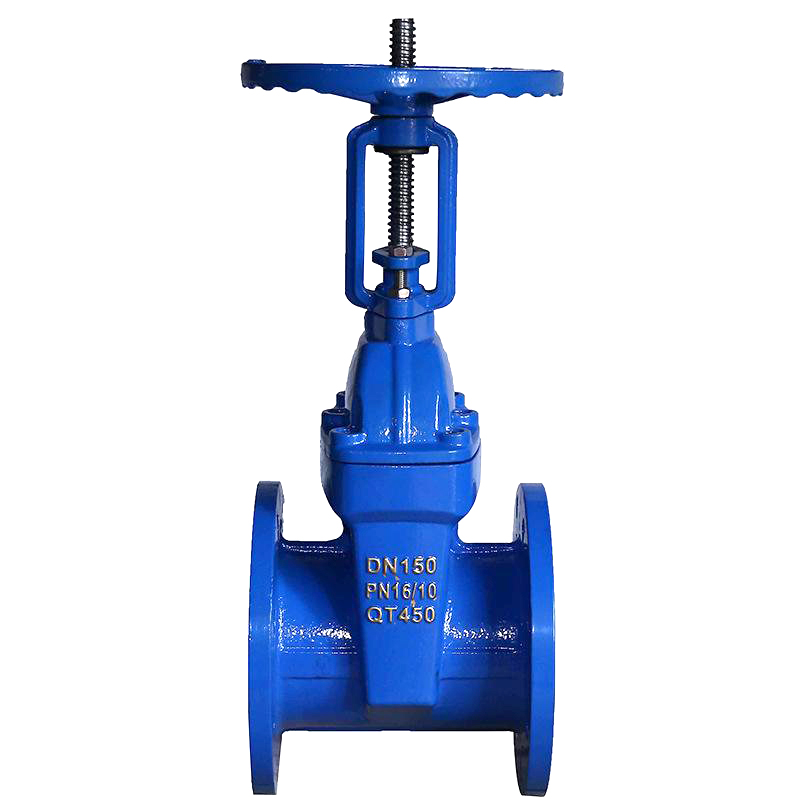 TKFM использование воды, мягкое соединение, подъемный стволовый направляющий чугунный задвижной клапан dn 50