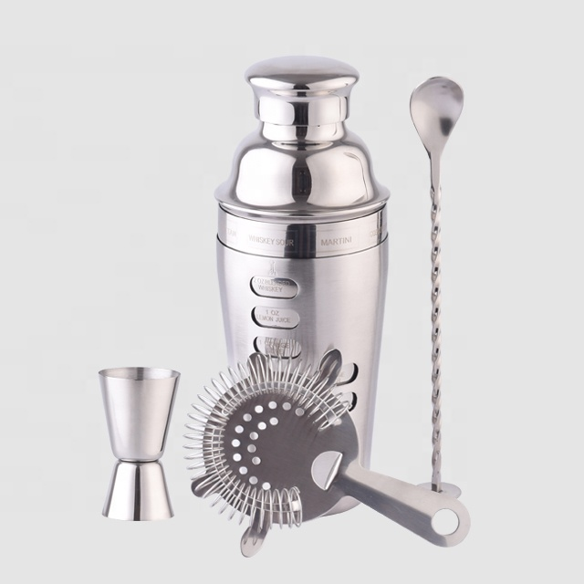 Factory Direct 700ml stainless steel cocktail bar set total