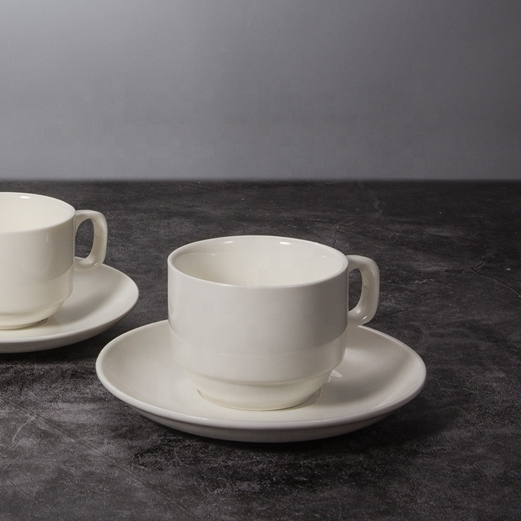 Hotel Use Ceramic Cup And Saucer