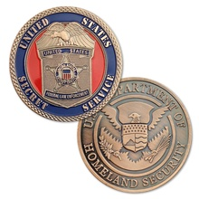 United States Department Of Homeland Security Challenge Coin