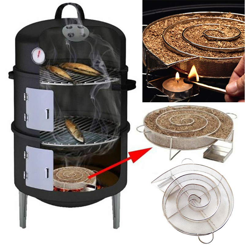 Cold Smoke Generator For BBQ Bacon Fish Salmon Meat dust Hot Burn Smoker Tools