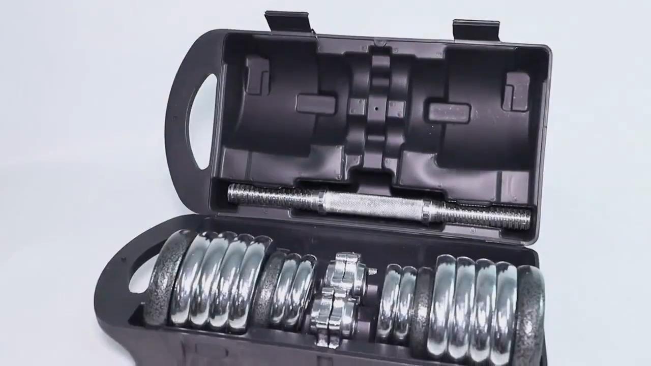 15KG 20KG 30KG ağırlık kaldırma ayarlanabilir krom halter dambıl seti