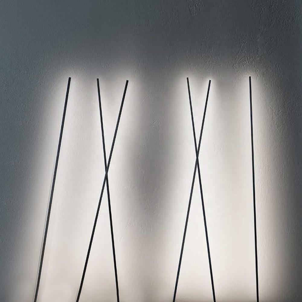 CE Conformity Matt Black Aluminum LED Lighting Fixtures Ambient Strip Light