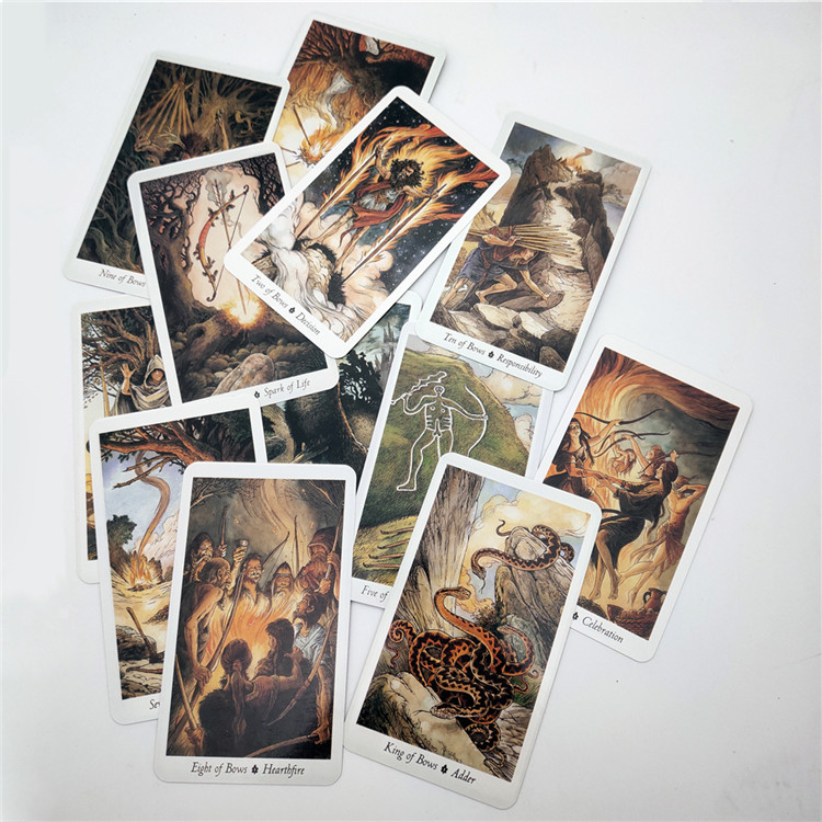 High quality printing Cute Custom Tarot Deck Set Print Oracle Cards with book instruction
