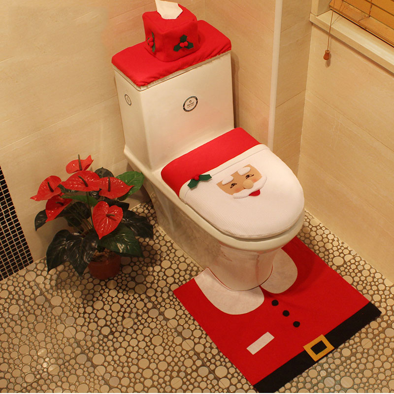 Christmas Decorations Indoor Bathroom Decorations Toilet Seat Cover