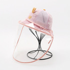 wholesale Summer Children's Protective Hat Super Cute Fisherman's Hat Children's Sun Protection Net hats with face shield