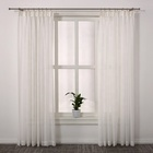 professional curtain supplier pinch pleat white sheer curtains