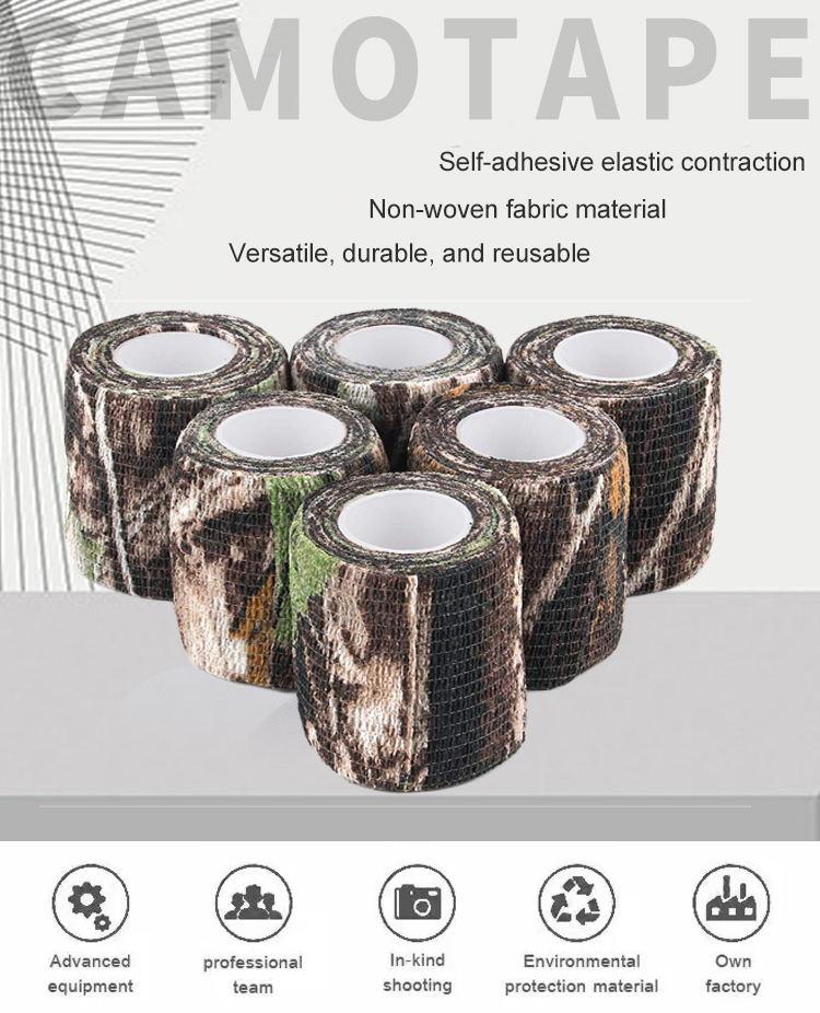 100% Baumwolle Großhandel Wild Wald Baumwoll Camo Kleidung Tarnband für Outdoor