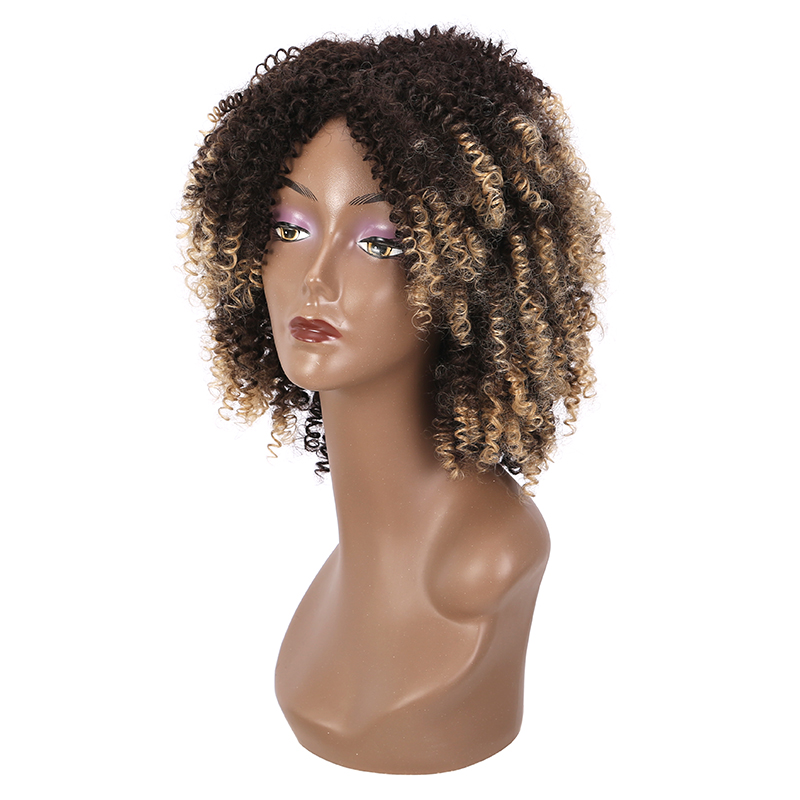 Manufacture Price <strong>Synthetic</strong> <strong>Wig</strong> For Black Women Ombre Afro <strong>Wigs</strong> Afro Kinky Curly <strong>Wig</strong>