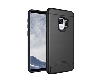 For Samsung S9/S9 Plus Low Price High Quality Hot Selling Plug-in Card PC+TPU Cell Phone Case For Samsung