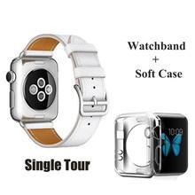 HERM логотип на ремешке с пряжкой для Apple Watch 5 4 3 2 Swift кожаный двойной тур 44 мм 40 мм 42 мм 38 мм ремешок кожаный ремешок для iWatch 5 4(Китай)
