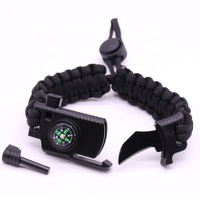KongBo Outdoor Multifunction Adjustable Paracord Survival Bracelet With Knife