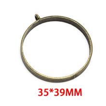 10 шт. круглая квадратная рамка, металлическая Золотая бронзовая круглая рамка для DIY для изготовления украшений вручную, УФ-смола(Китай)