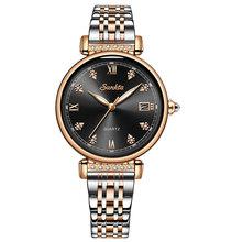 SUNKTA 2020, женские часы, розовое золото, Топ бренд, роскошные часы для женщин, кварцевые, водонепроницаемые, женские наручные часы, для девушек, ...(Китай)